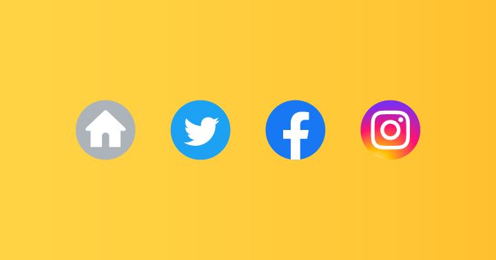 プロフィールにホームページ、Twitter、Facebook、Instagramを登録できるようになりました!
