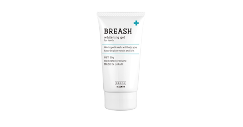 ホワイトニング歯磨き粉(BREASH)ブレッシュホワイトニング 口コミと効果・使い方を紹介