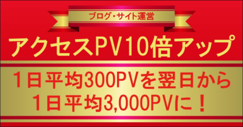 1日平均300PV⇒翌日から1日平均3000PVに上げたブログ(WEBサイト)アクセスPV爆上げ手法公開